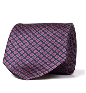 Veneto Navy Print Tie