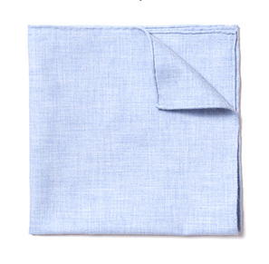 Lt. Blue Flannel Pocket Square