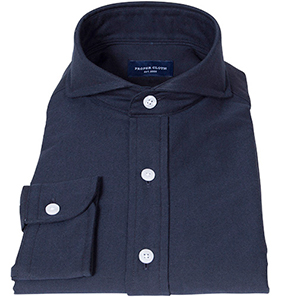 Navy Heavy Oxford Cloth Popover