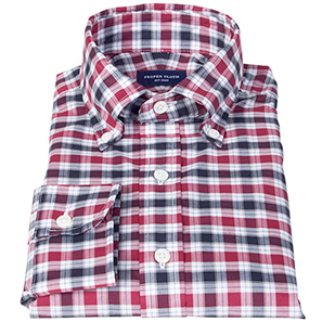 Vincent Red and Navy Plaid