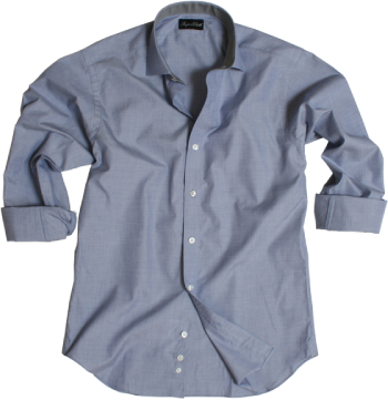 Custom Blue Pinpoint Dress Shirt
