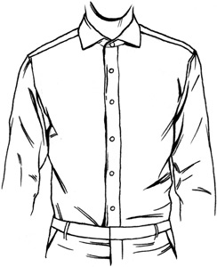 Placket definition what is for Tuxedo shirt covered placket