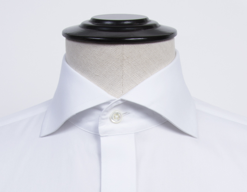Roma cutaway collar by proper cloth for Spread collar dress shirt without tie