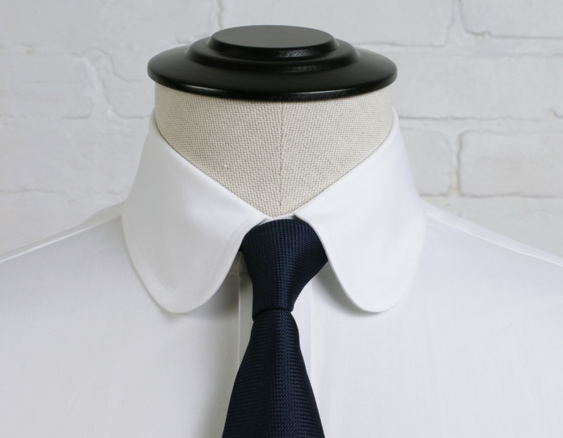 Vintage club collar proper cloth for Men s spread collar shirts