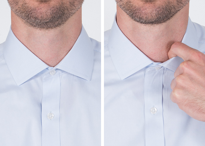 how snug should a shirt collar fit proper cloth reference