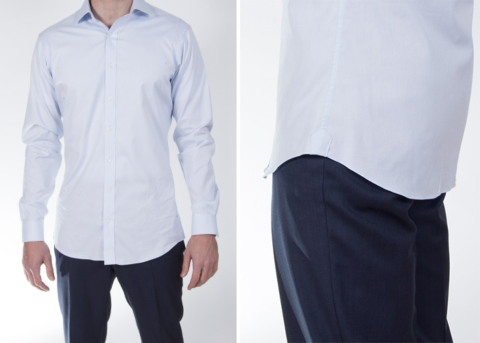 How long should the shirt length be proper cloth reference for Mens dress shirt sleeve length