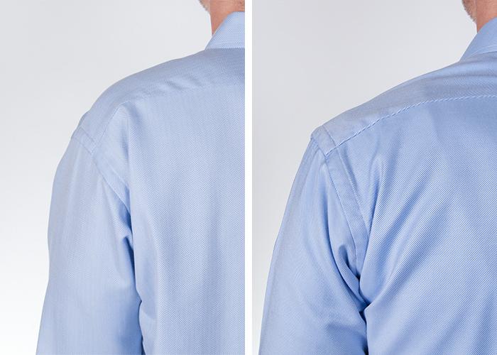 How shoulders/yoke should fit