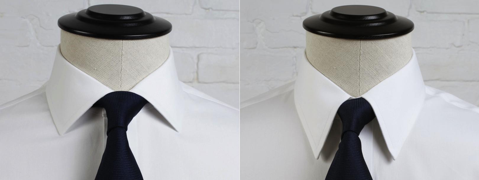 spread collar vs point collar