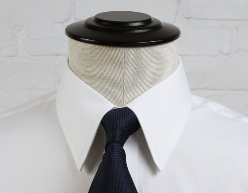 Point collar vs semi spread collar for Semi spread collar shirt