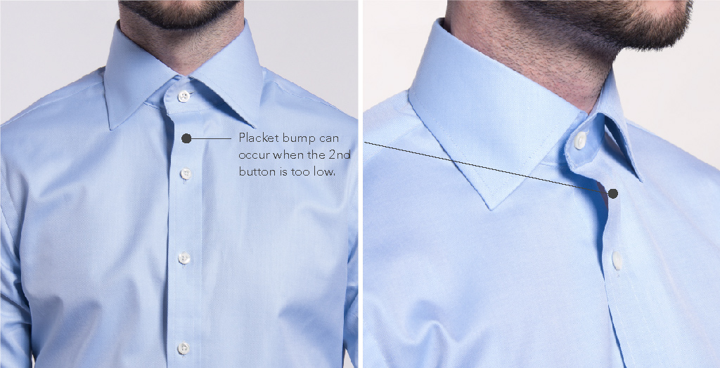 Dress Shirt Placket Bump