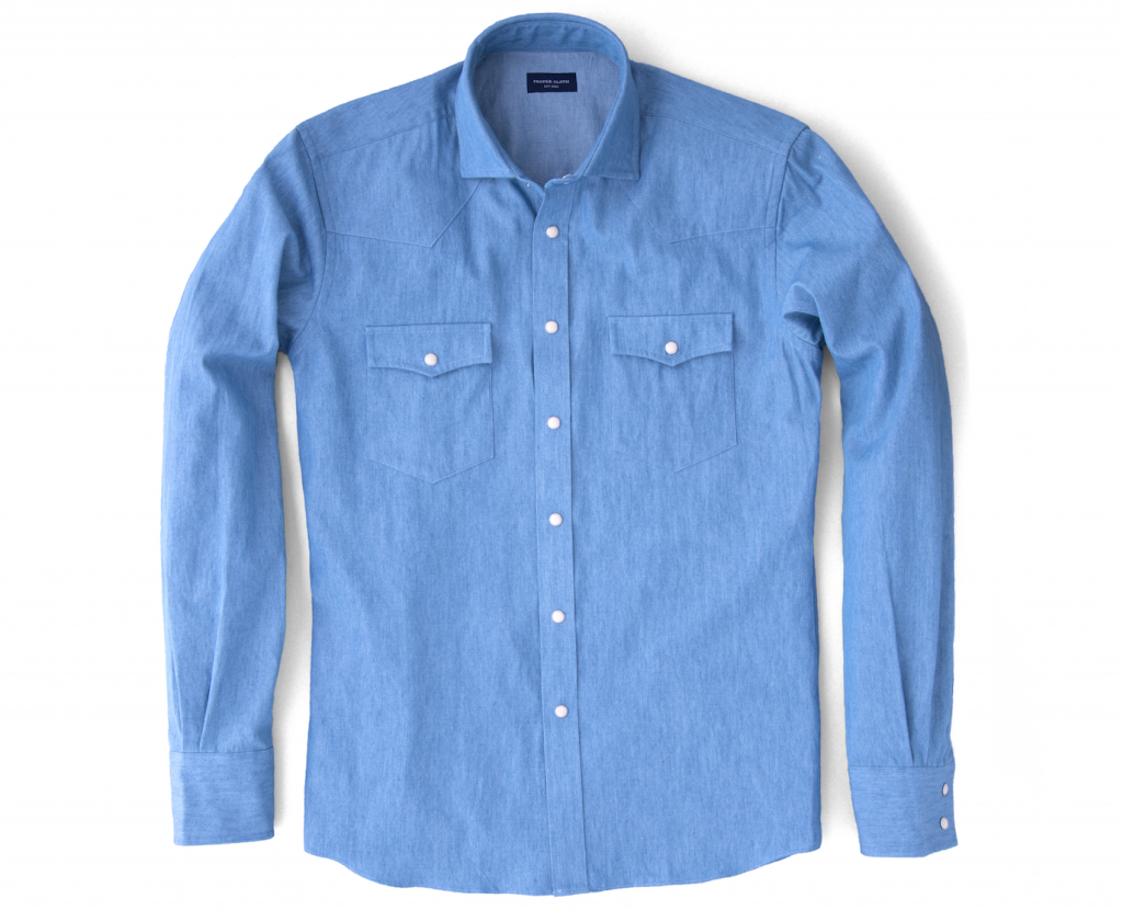 The western shirt history and style proper cloth reference for Proper cloth custom shirt price