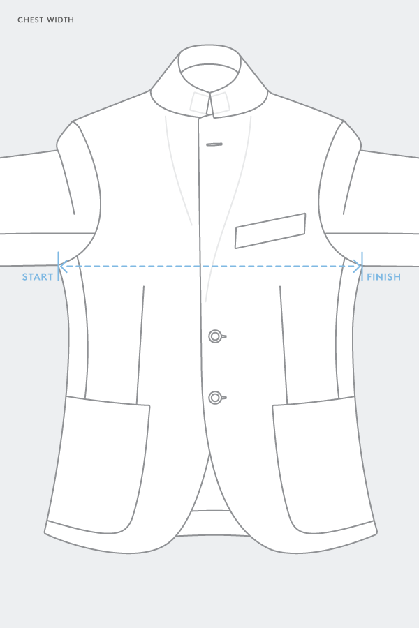 suit jacket chest measurement
