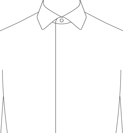 Proper cloth for Tuxedo shirt covered placket