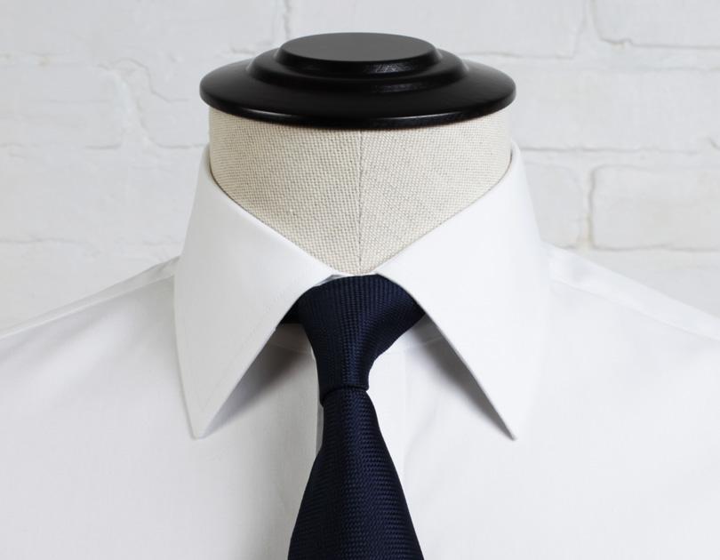 Guide to dress shirt collar styles proper cloth Straight collar dress shirt