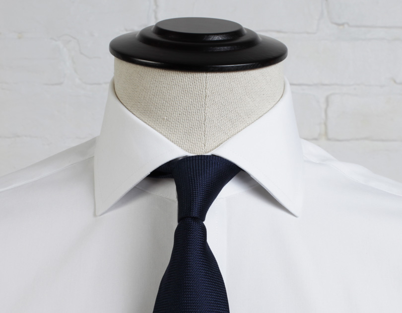 Guide to dress shirt collar styles proper cloth for Semi spread collar shirt