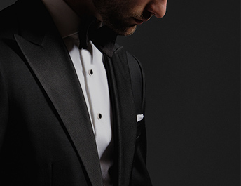 Proper Cloth Black Tie