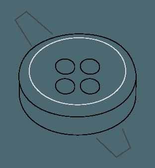 Slate Horn Buttons