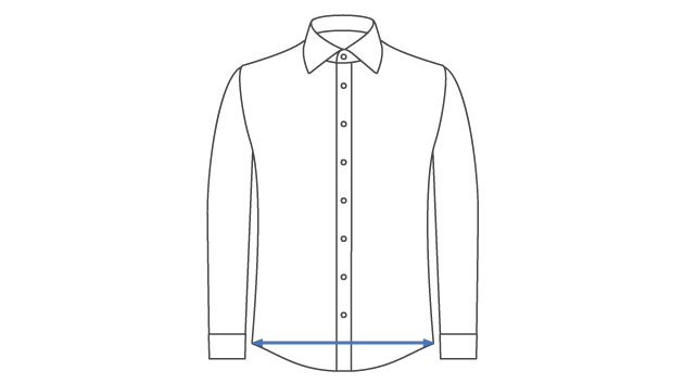 How the shirt bottom measurement works.