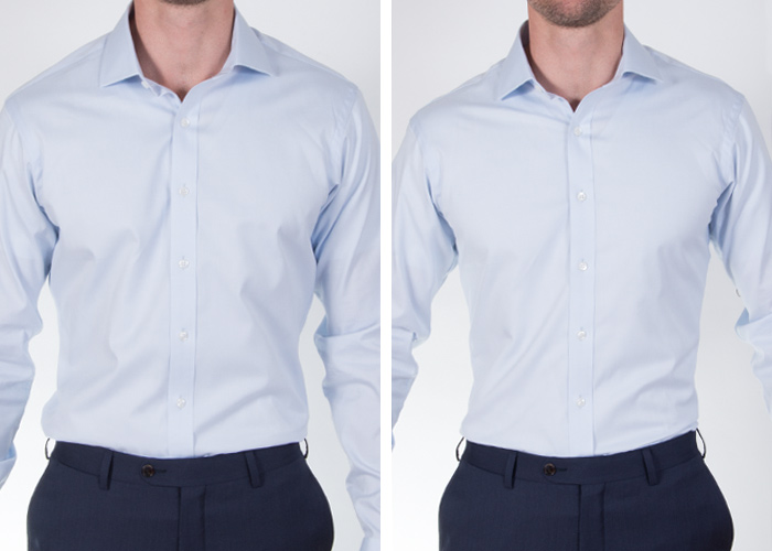 How the chest should fit proper cloth reference for Proper cloth custom shirt price