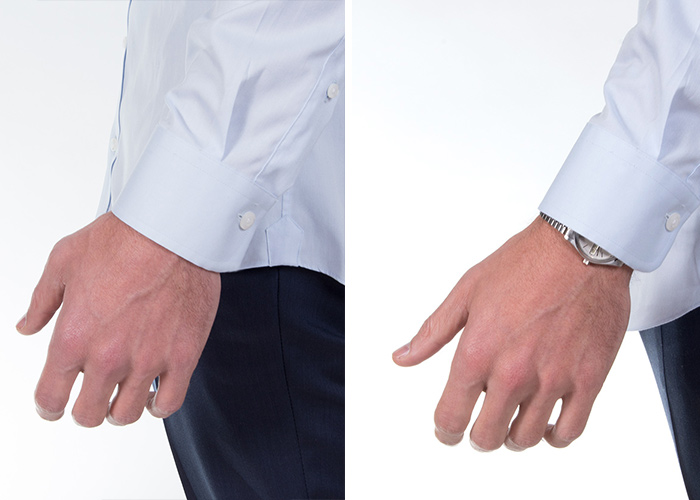 How tight should dress shirt cuffs fit for Mens dress shirt sleeve length