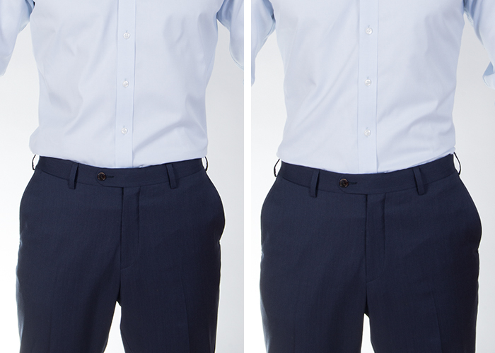 """The """"office appropriate"""" slim fit and the super slim fit."""