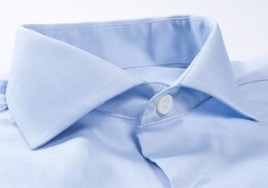 584d6caa2c1 A close inspection of the shirt s collar will often give a sense for the  quality of the shirt. A quality collar will be cut perfectly symmetrical