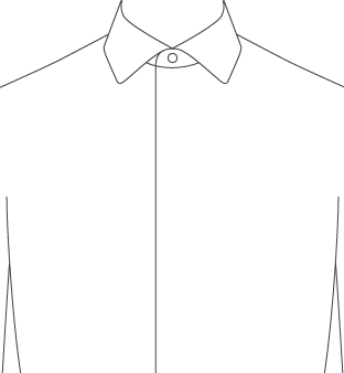 Dress shirt front placket types proper cloth reference for Tuxedo shirt covered placket