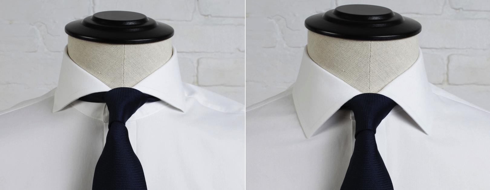 cutaway versus spread collar