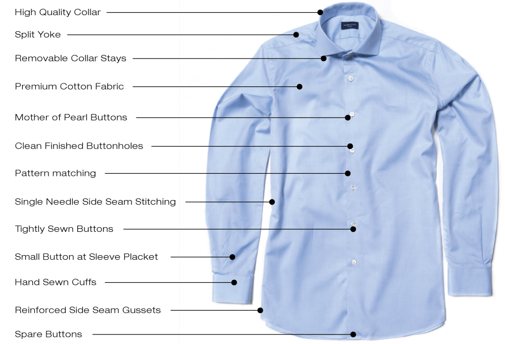 high quality dress shirts proper cloth reference