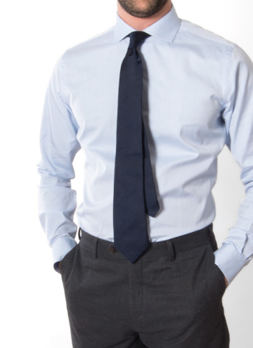 Advanced tips for perfect dress shirt fit proper cloth for Proper cloth custom shirt price