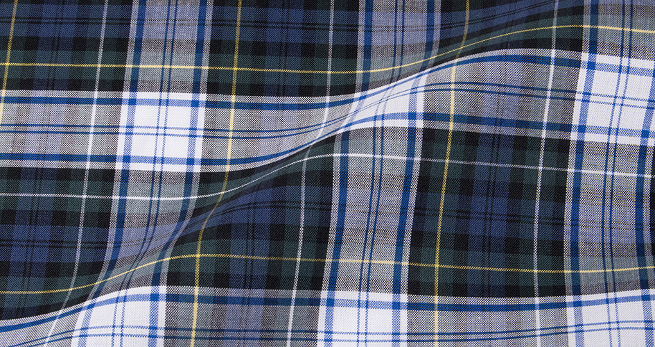 tartan plaid Scottish dress shirt fabric