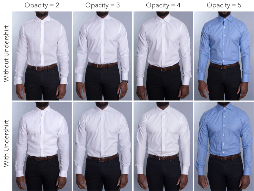 Dress Shirt Opacity on Dark Skin Tone