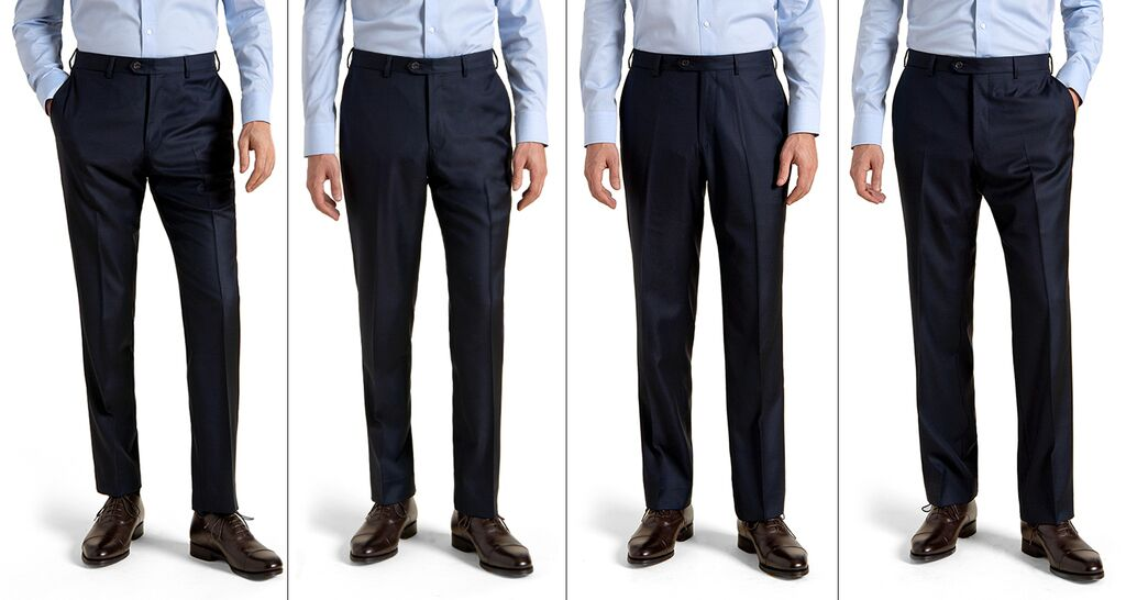 Extra Slim, Slim, Straight, and Classic Fit Trousers